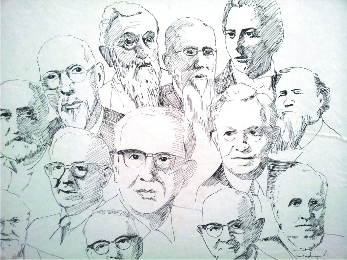Presidents circa 1979 - Pen sketches
